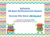 Editable AR Award for Goal Achievement (Google Drive)