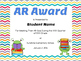 Editable AR Award for Goal Achievement (Google Drive)