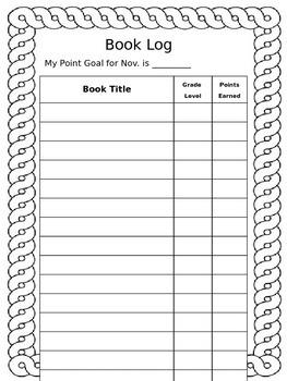 Editable AR Book Log