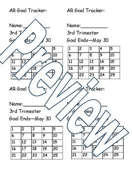 Editable AR Goal Tracker Sheet