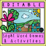 EDITABLE Sight Word Games and Activities {Spring Theme}