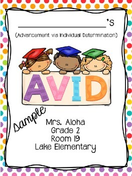 Editable Avid Binder Covers Freebie By Teaching With Aloha
