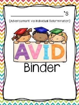 Editable AVID Binder Covers FREEBIE