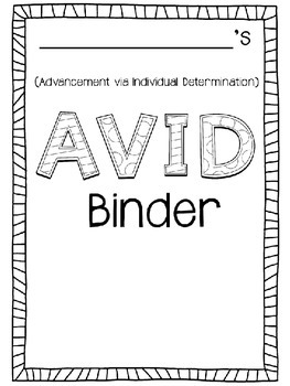 Editable AVID Binder Covers FREEBIE