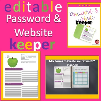 "Editable ""About Me"" - Password Keeper, Website Keeper, Data Keeper Form"