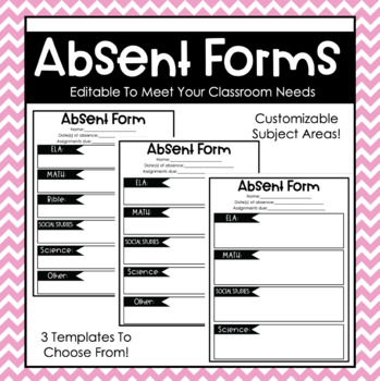 Editable Absent Forms