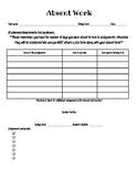 Editable Absent Work Form