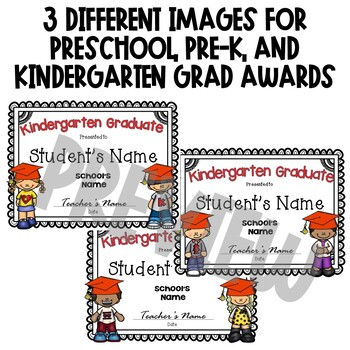End of Year Awards *EDITABLE* for pre-k or kindergarten graduation
