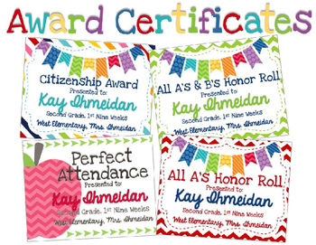Editable Academic Awards
