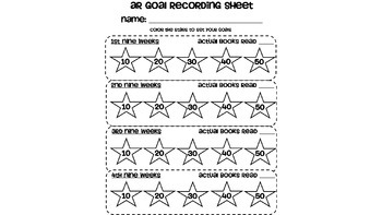 Editable Accelerated Reader Mini Clip Chart & Goal Pack - {B&W Polka Dot}