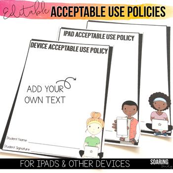 EDITABLE Acceptable Use Policies to Teach Digital Citizenship