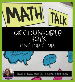 Editable Accountable Talk Anchor Chart