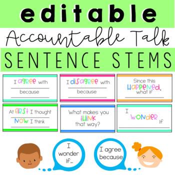 Editable Accountable Talk Sentence Stems