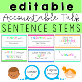 Editable Accountable Talk Sentence Stems
