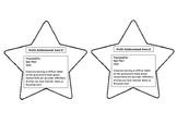 Editable Achievement Award