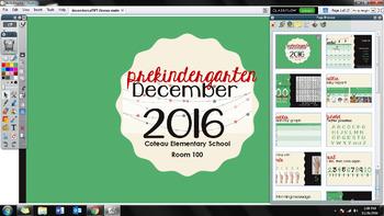 Editable ActivInspire Flipchart - December Morning Meeting