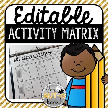 Editable Activity Matrix {FREE}