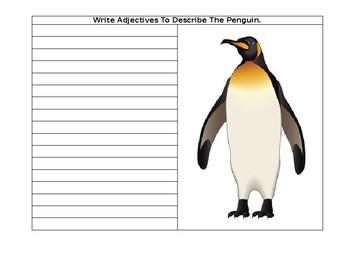 Editable-Adjectives To Describe A Penguin