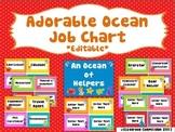*Editable* Adorable Ocean Job Chart