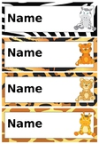 Safari Desk Name Tags/Labels