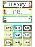 Classroom Decor: Editable Agenda labels (Owl theme)