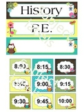 Classroom Decor: Editable Agenda labels (Owl theme)