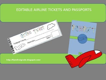 Editable Airline Ticket and Passport