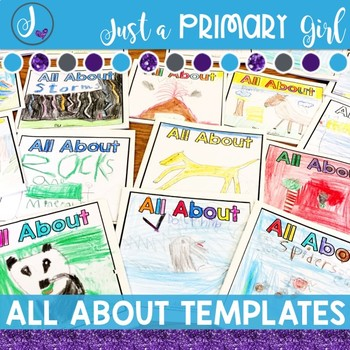 Editable All About Book Templates