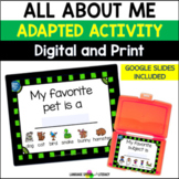 All About Me Book Editable Book    Digital & Print