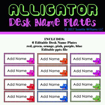 Editable Alligator Desk Name Plates