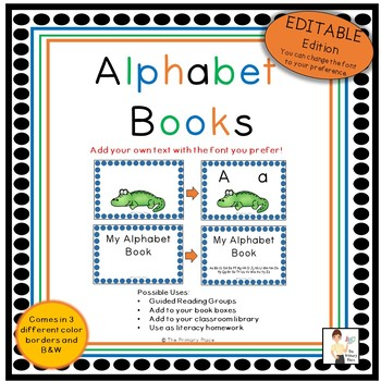 Editable Alphabet Books
