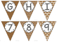 Editable Alphabet Bunting with Brown Prints {Includes Numbers}