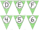 Editable Alphabet Bunting with Green Prints {Includes Numbers}