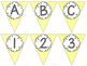 Editable Alphabet Bunting with Yellow Prints {Includes Numbers}