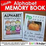 Alphabet Memory Book, Kindergarten Memory Book