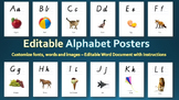 Alphabet Posters | Editable | Charts | Classroom Decor | Writing | Letters