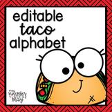 Editable Alphabet Posters - taco / food theme