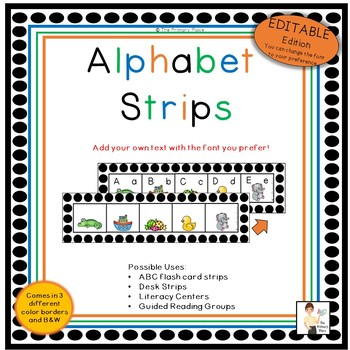 Editable Alphabet Strips