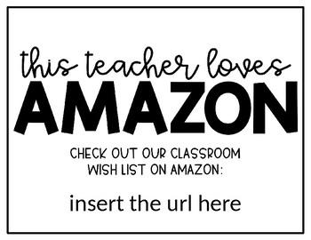 Editable Amazon Wishlist Poster