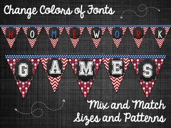 America Themed Bunting