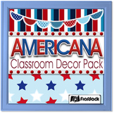 Editable Americana Classroom Decor Bundle