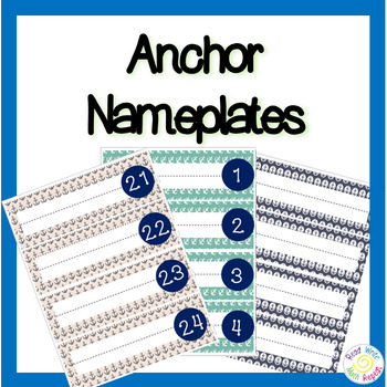 Editable Anchor Name Tags or Name Plates