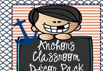 Editable Anchors Classroom Decor!