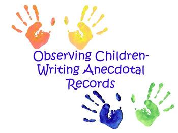 Editable Anecdotal Checklist for Teachers