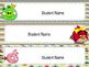 Editable Angry Birds Themed Desk Plates/Shelf Markers