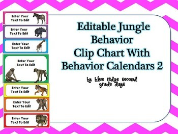 Editable Animal Behavior Chart and Editable Behavior Calen