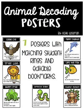 Editable Animal Decoding Posters and Mini Posters