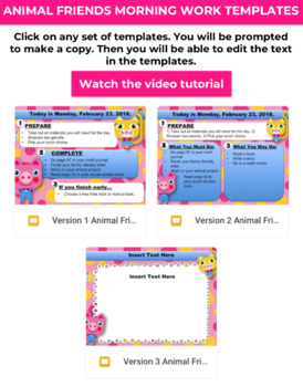 Editable Animal Friends GOOGLE SLIDES Templates