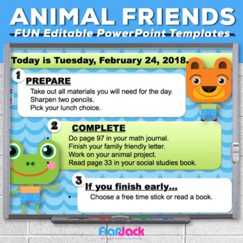 Editable Animal Friends PowerPoint Templates