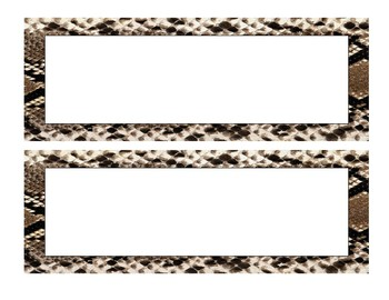 Editable Animal Print Name Tags